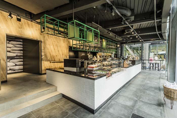 柏林星巴克索尼中心店设计 - 星巴克 - loft餐饮空间